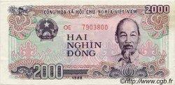 2000 Dong VIET NAM  1988 P.107a SUP+