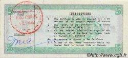 5 Dollars VIET NAM  1982 P.FX9 SUP+
