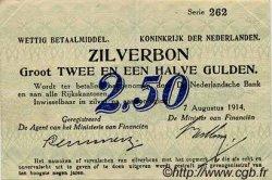 2,5 Gulden PAYS-BAS  1914 P.005a TTB