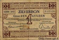 1 Gulden PAYS-BAS  1917 P.010 B à TB