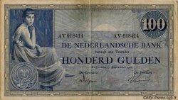 100 Gulden PAYS-BAS  1924 P.039b TTB