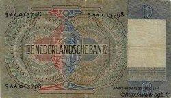 10 Gulden PAYS-BAS  1940 P.056a B à TB