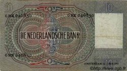 10 Gulden PAYS-BAS  1942 P.056b TTB+