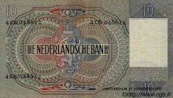 10 Gulden PAYS-BAS  1942 P.056b TTB