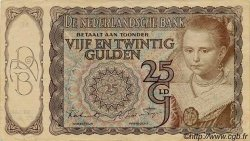 25 Gulden PAYS-BAS  1943 P.060 TTB