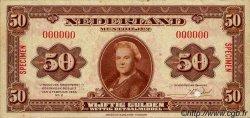 50 Gulden PAYS-BAS  1943 P.068s TTB+