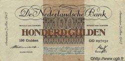 100 Gulden PAYS-BAS  1945 P.079 TTB