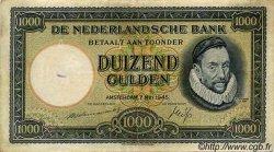 1000 Gulden PAYS-BAS  1945 P.080 TTB