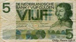5 Gulden PAYS-BAS  1966 P.090a B à TB