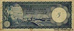 5 Gulden ANTILLES NÉERLANDAISES  1962 P.01a TB