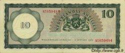 10 Gulden ANTILLES NÉERLANDAISES  1962 P.02a SUP