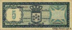5 Gulden ANTILLES NÉERLANDAISES  1967 P.08a TB+