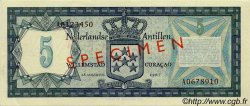 5 Gulden ANTILLES NÉERLANDAISES  1967 P.08s SPL
