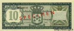 10 Gulden ANTILLES NÉERLANDAISES  1967 P.09s SPL+