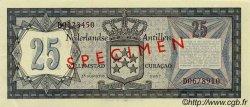25 Gulden ANTILLES NÉERLANDAISES  1967 P.10s SPL+