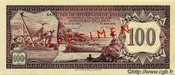 100 Gulden ANTILLES NÉERLANDAISES  1967 P.12s SPL+