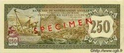250 Gulden ANTILLES NÉERLANDAISES  1967 P.13s SPL+