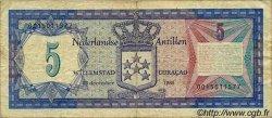 5 Gulden ANTILLES NÉERLANDAISES  1980 P.15a TB