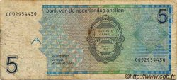 5 Gulden ANTILLES NÉERLANDAISES  1986 P.22a B+