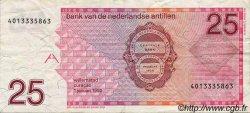 25 Gulden ANTILLES NÉERLANDAISES  1990 P.24b TB à TTB