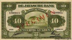 40 Gulden INDES NEERLANDAISES  1921 P.068s pr.NEUF