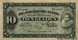 10 Gulden INDES NEERLANDAISES  1929 P.070 TTB