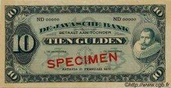 10 Gulden INDES NEERLANDAISES  1926 P.070s pr.NEUF