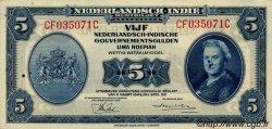 5 Gulden INDES NEERLANDAISES  1943 P.113a SPL