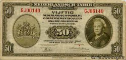 50 Gulden INDES NEERLANDAISES  1943 P.116a TB+