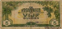 5 Gulden INDES NEERLANDAISES  1942 P.124a B+
