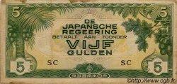 5 Gulden INDES NEERLANDAISES  1942 P.124b TB+