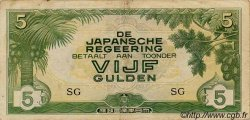 5 Gulden INDES NEERLANDAISES  1942 P.124c TB à TTB