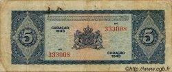 5 Gulden CURACAO  1943 P.25 TB+