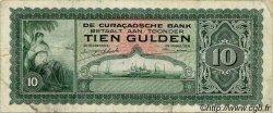 10 Gulden CURACAO  1943 P.26 TB à TTB
