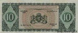 10 Gulden CURACAO  1948 P.30 TTB