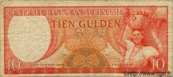 10 Gulden SURINAM  1963 P.031 pr.TB