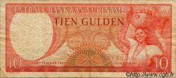 10 Gulden SURINAM  1963 P.121 TB