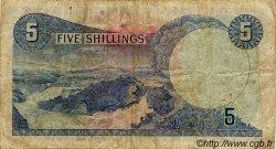 5 Shillings OUGANDA  1966 P.01a TB