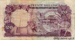 20 Shillings OUGANDA  1966 P.03a TB