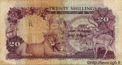 20 Shillings OUGANDA  1966 P.03a TB+