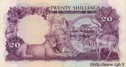 20 Shillings OUGANDA  1966 P.03a SUP+