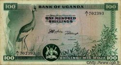 100 Shillings OUGANDA  1966 P.04a TB+