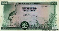 100 Shillings OUGANDA  1966 P.04a SUP+