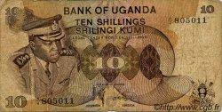10 Shillings OUGANDA  1973 P.06a pr.TB