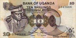 10 Shillings OUGANDA  1973 P.06b TTB+