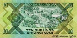 10 Shillings OUGANDA  1987 P.28 NEUF
