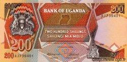 200 Shillings OUGANDA  1987 P.32a NEUF
