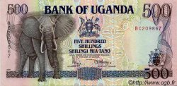500 Shillings OUGANDA  1991 P.33a SPL
