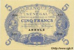 5 Francs Cabasson type 1874 SÉNÉGAL  1874 P.A1 SPL+