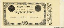 25 Francs SÉNÉGAL  1854 P.A.2s pr.NEUF